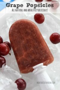 How To Make Natural Grape Popsicles