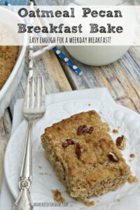 Oatmeal Pecan Breakfast Bake