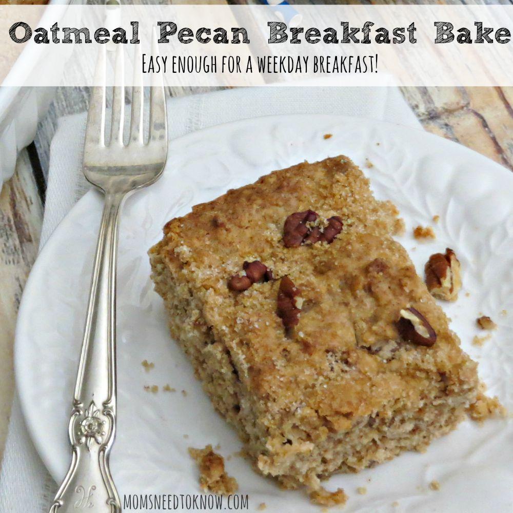 Oatmeal Pecan Breakfast Bake sq
