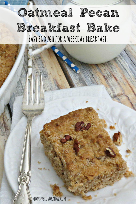 Oatmeal Pecan Breakfast Bake