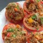 These stuffed tomatoes are another great way to use up the tomatoes in your garden!