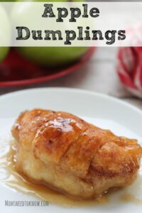 If you need another easy dessert idea - these apple dumplings are simply delicious!