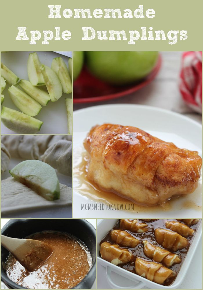 Homemade Apple Dumplings collage