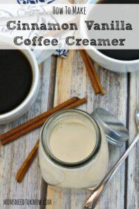 How To Make Cinnamon Vanilla Coffee Creamer