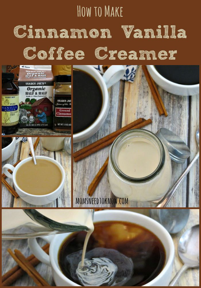 How To Make Cinnamon Vanilla Coffee Creamer collage