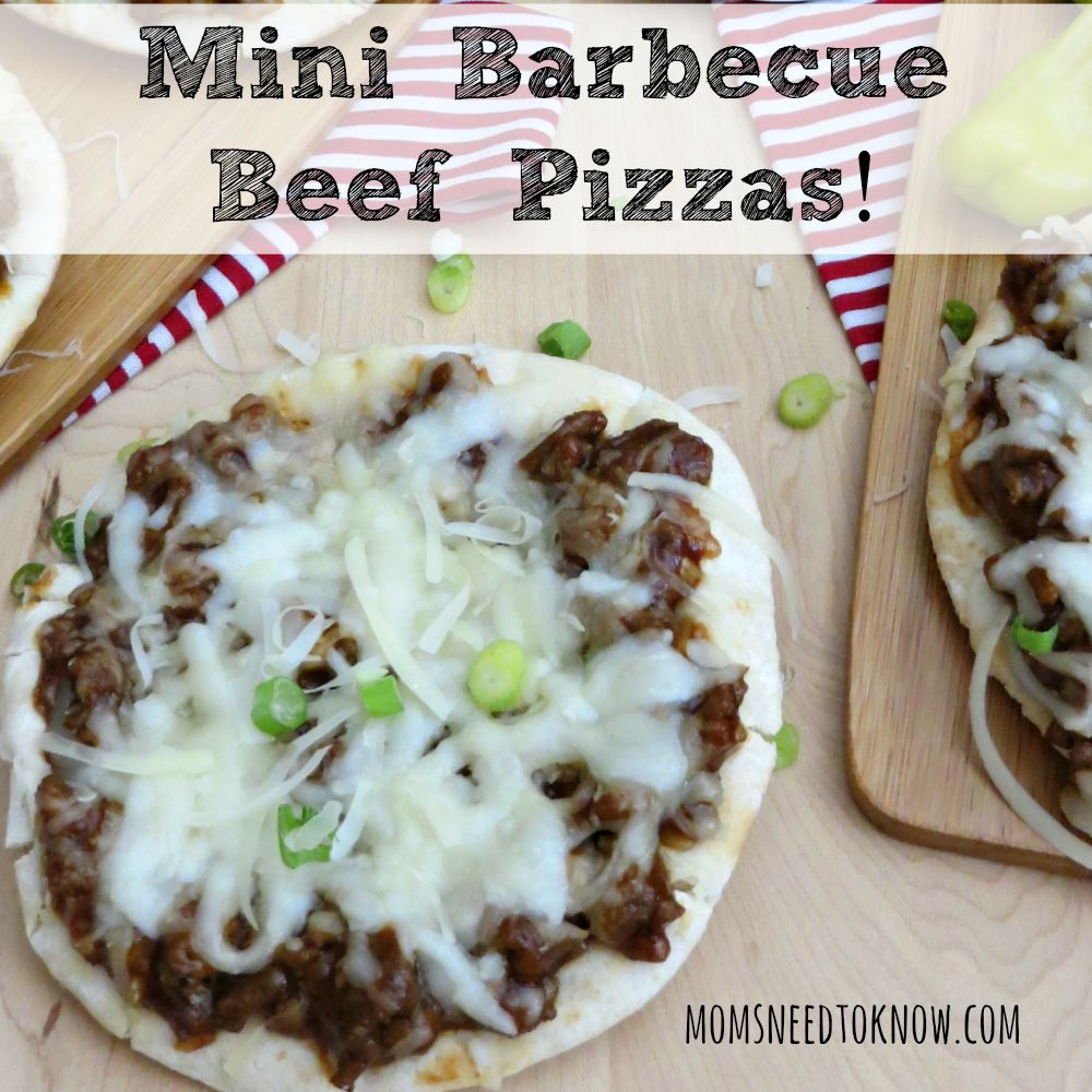 Mini Barbecue Beef Pizzas sq