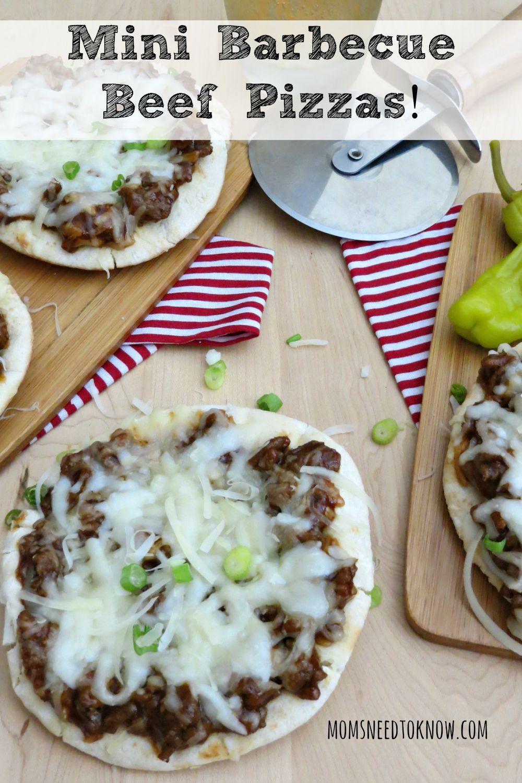 Mini Barbecue Beef Pizzas
