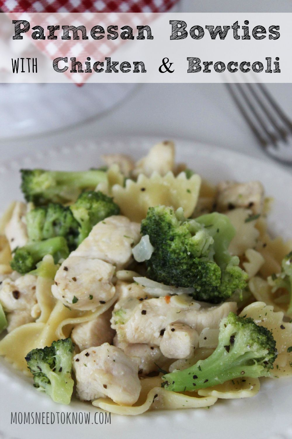 Parmesan Bowties with Chicken and Broccoli