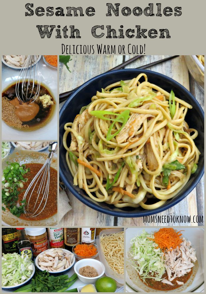 Sesame Noodles With Chicken collage