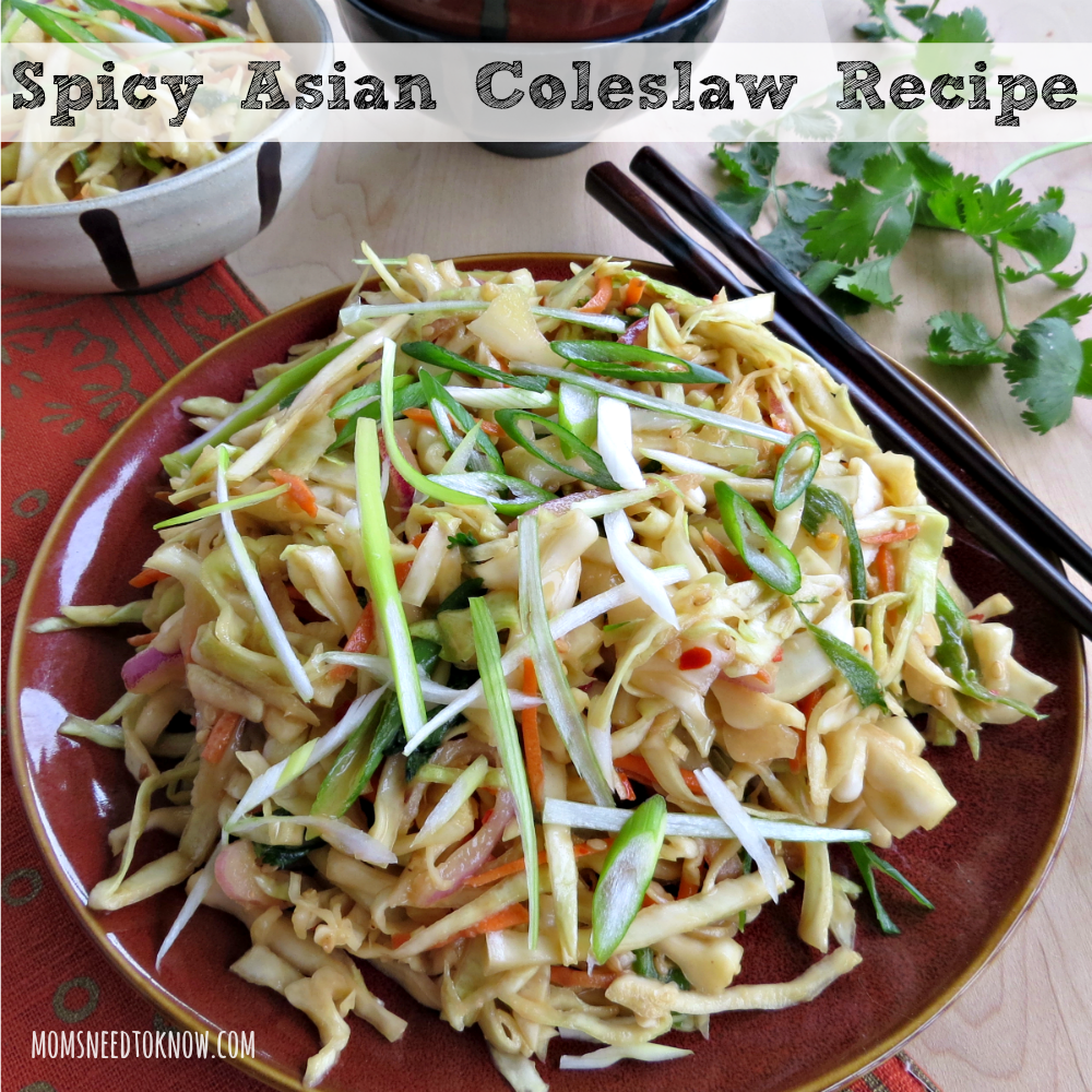 Spicy Asian Coleslaw Recipe sq