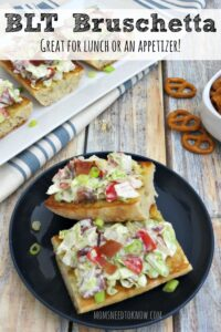 BLT Bruschetta Recipe | Great Game Day Appetizer!
