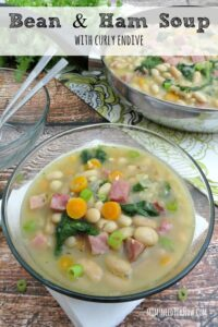 For an equally hearty soup, try my Bean & Ham soup with Curly Endive!