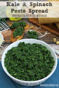 Kale and Spinach Pesto Spread Recipe