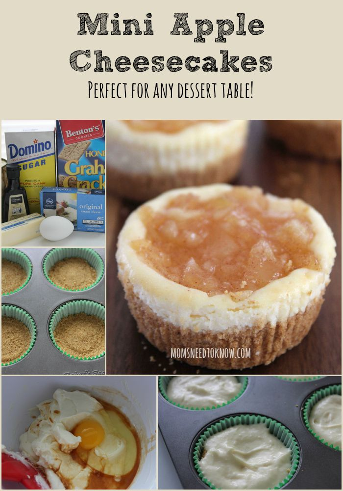 Mini Apple Cheesecakes collage