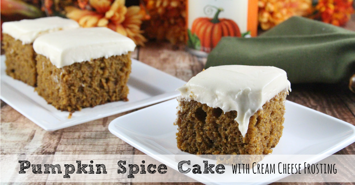 Pumpkin Spice Cake with Cream Cheese Frosting | Moms Need To Know ™