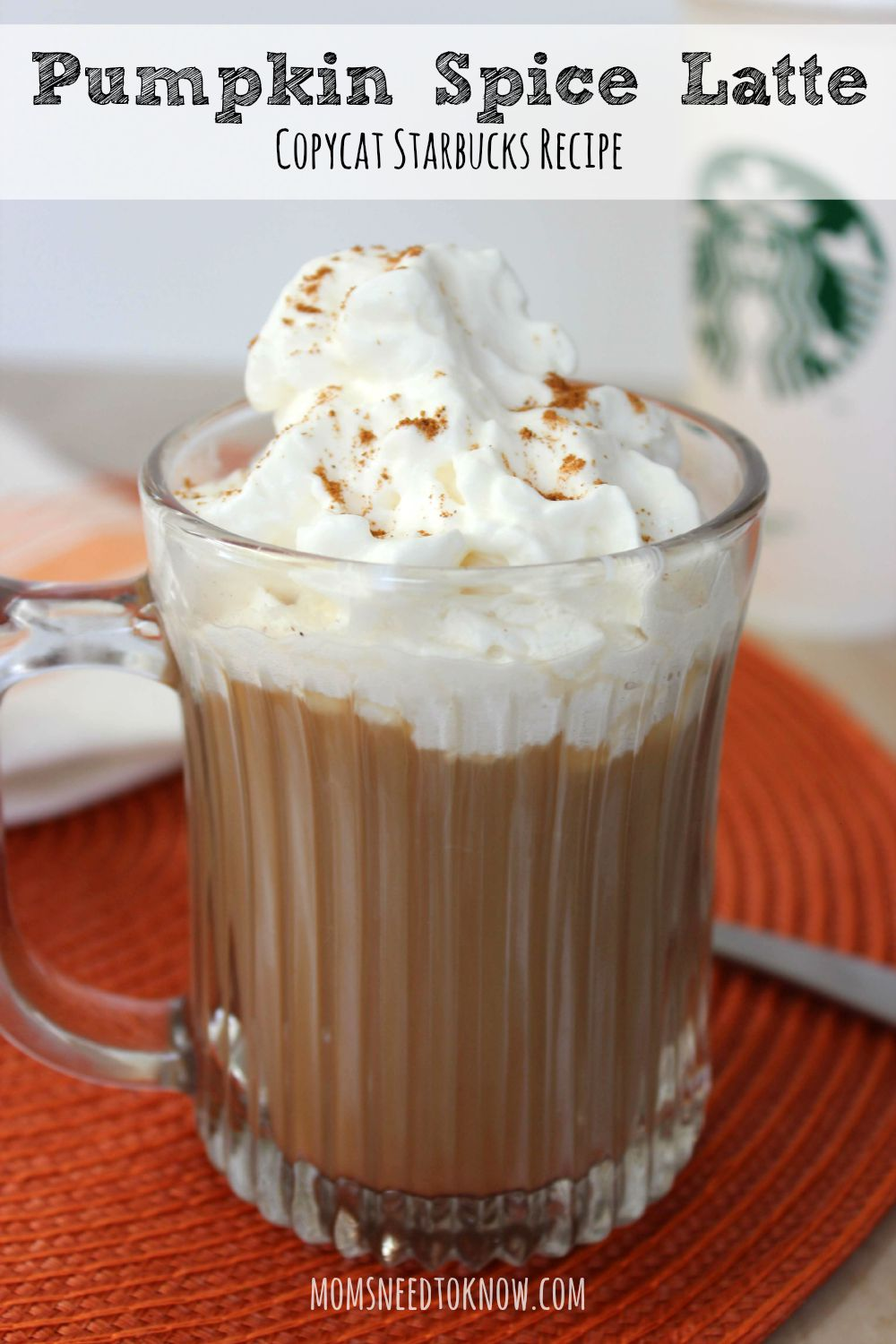 Pumpkin Spice Latte Copycat Starbucks recipe