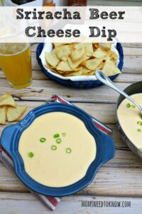 Not only would this Sriracha Beer Cheese Dip go well with this, it would also be delicious if you drizzled some over the beef!