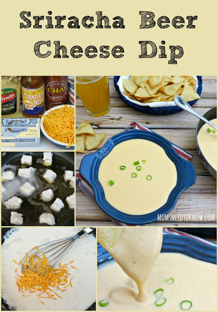 Sriracha Beer Cheese Dip collage