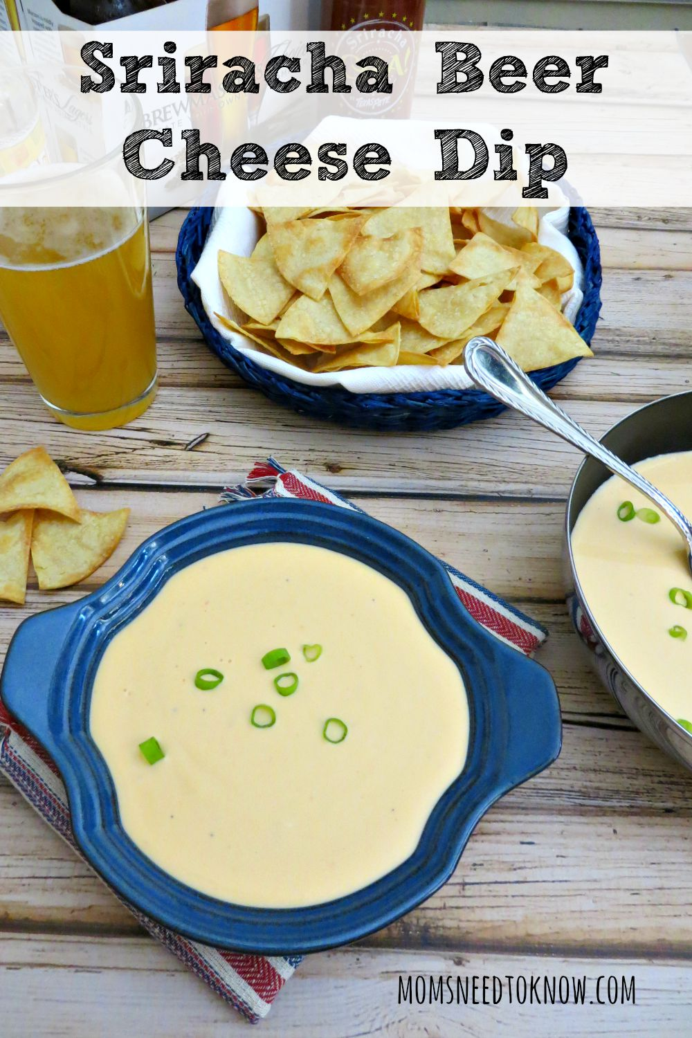 This smooth and creamy cheese dip is made with beer and Sriracha Sauce. So good that you might be tempted to skip the chips and grab a spoon!