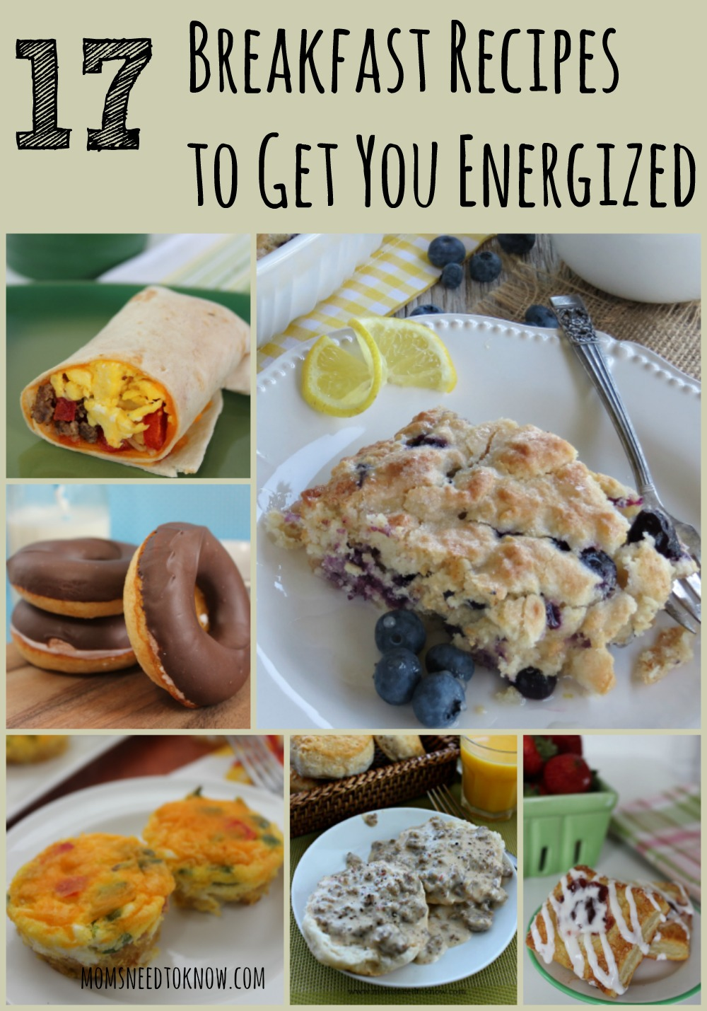 "If you are in a ""breakfast rut"", here are 17 breakfast recipes to add to your mornings, many of which can be prepared the night before to save time!"