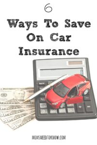 While you are saving money on gas be sure to save some money on your car insurance!