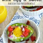 If you are looking for a high-protein breakfast that is equally delicious, you really should try these baked avocados with eggs and bacon!