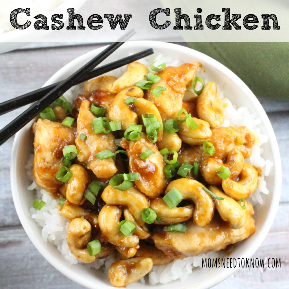 Cashew Chicken Recipe sq