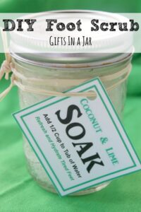 Homemade Foot Scrub and Soak | Coconut Lime Foot Scrub!