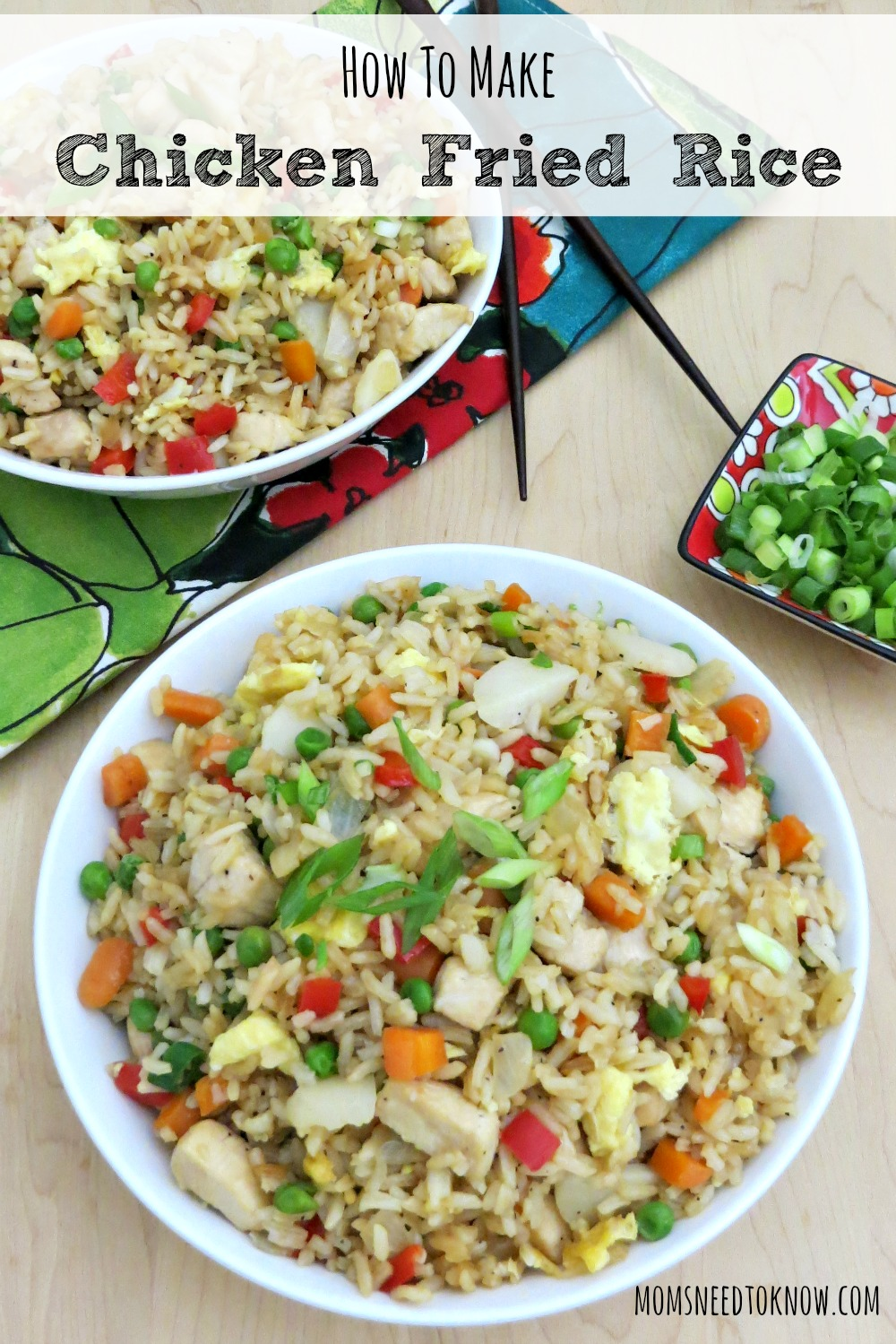 This easy fried rice recipe is so easy to make and will save you money on the Chinese takeout! It cooks up pretty quick and can easily be customized!