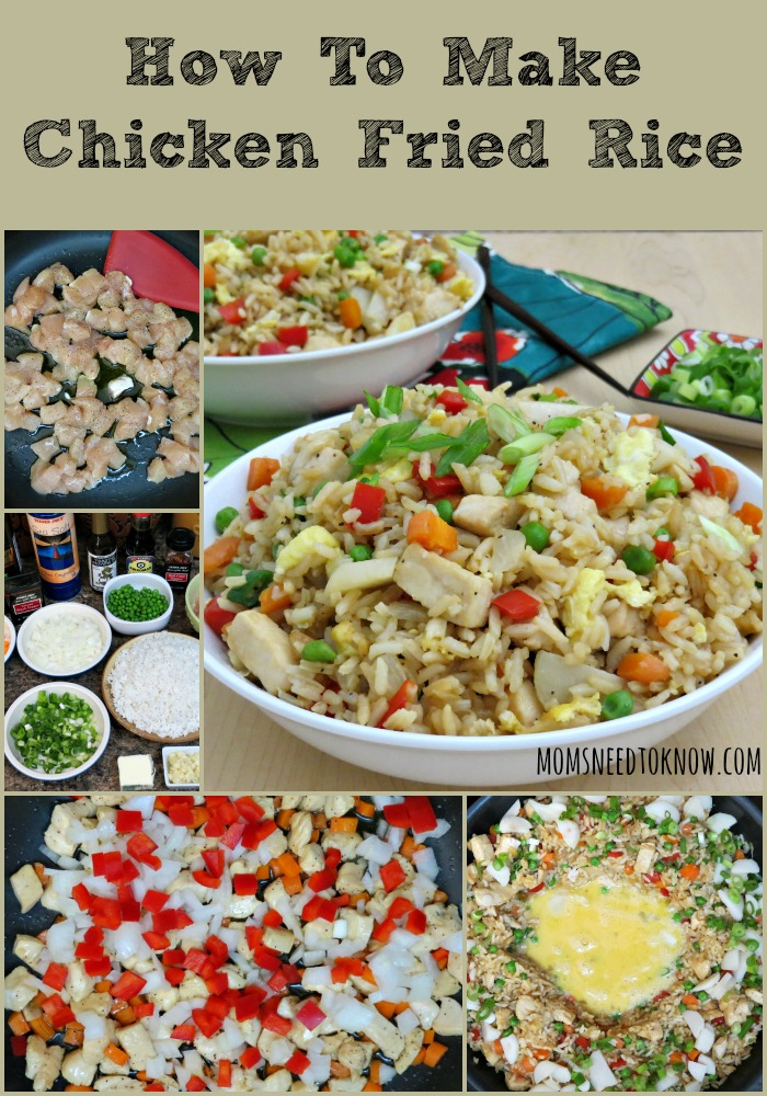 Easy fried rice recipe chicken fried rice moms need to know easy fried rice recipe collage ccuart Images