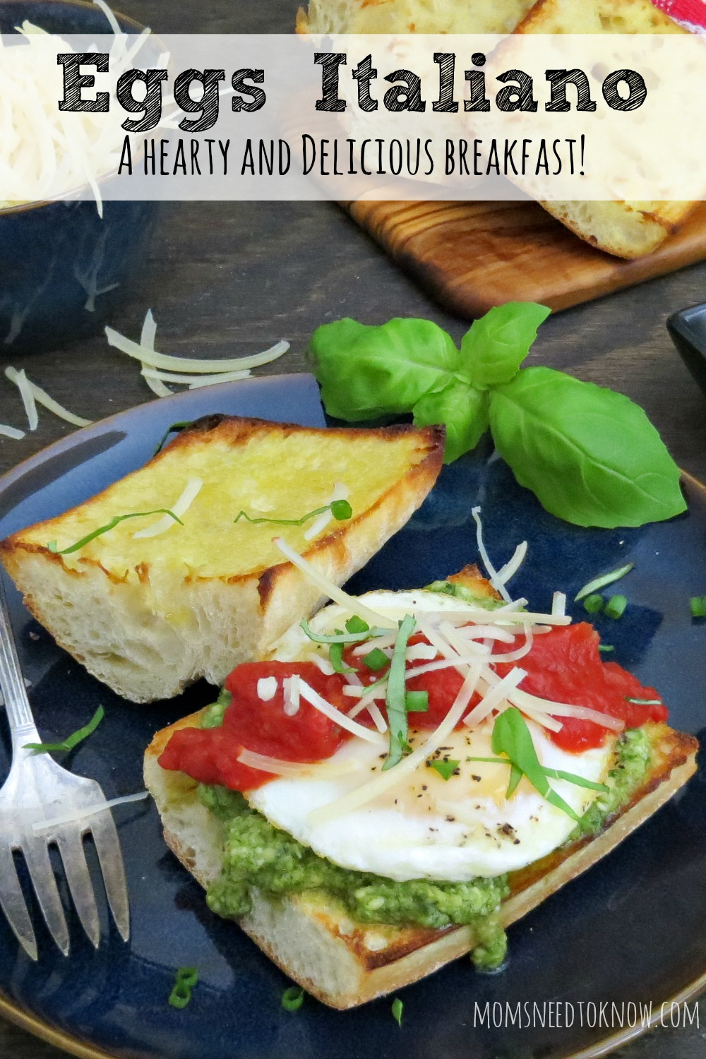 If you love Eggs Benedict and the flavors of Italy, then you'll love this dish. The pesto and marinara add tons of fresh flavor and moisture, while the egg and cheese are salty, savory and satisfying.