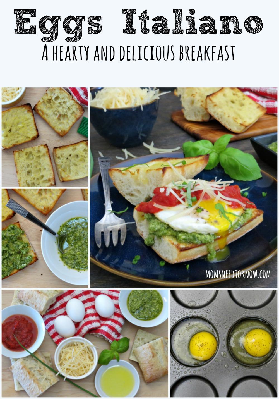 Eggs Italiano collage