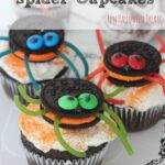 These Oreo-Stuffed Spider Cupcakes are so fun to make with your children are are sure to be a hit at your Halloween party or just as a treat for the kids!