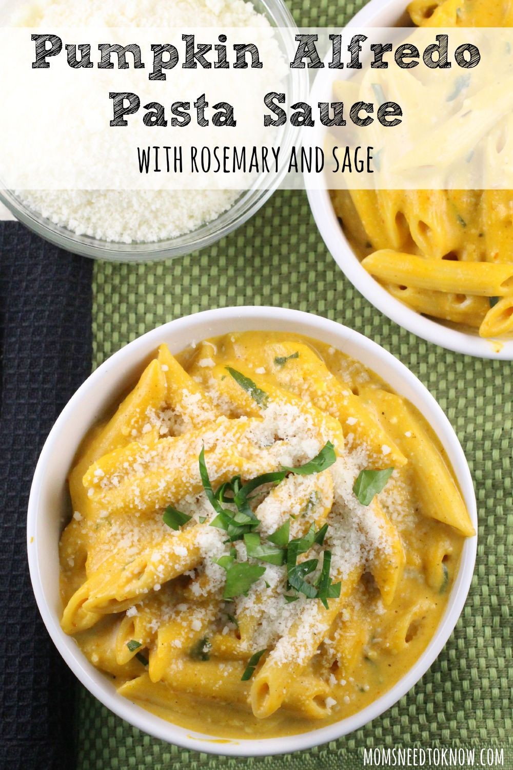 Pumpkin Alfredo Sauce with Rosemary and Sage | Moms Need To Know ™