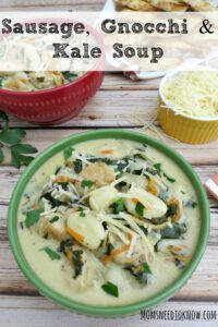Want a heartier soup? Try this Sausage, Gnocchi and Kale soup!