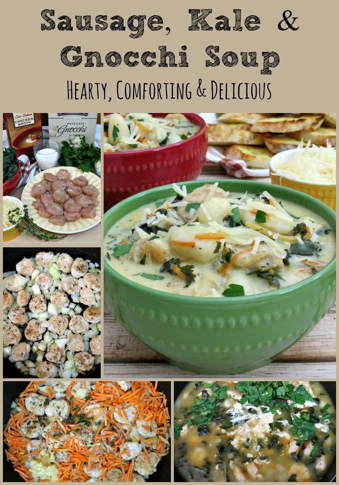 Sausage Gnocchi and Kale Soup collage