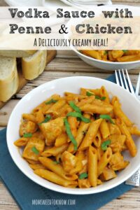 Penne with Chicken and Vodka Sauce Recipe