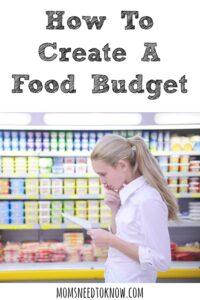 How To Create a Food Budget