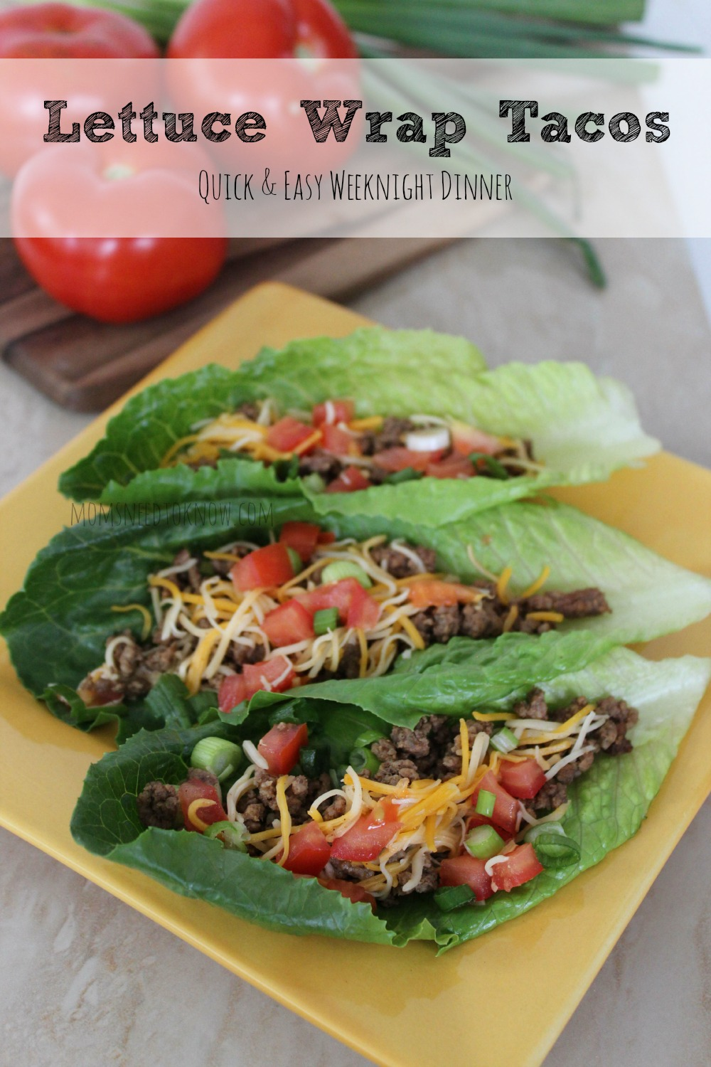 A homemade taco seasoning mix give these lettuce wrap tacos plenty of flavor (and if you children want to use regular taco shells - let them!)