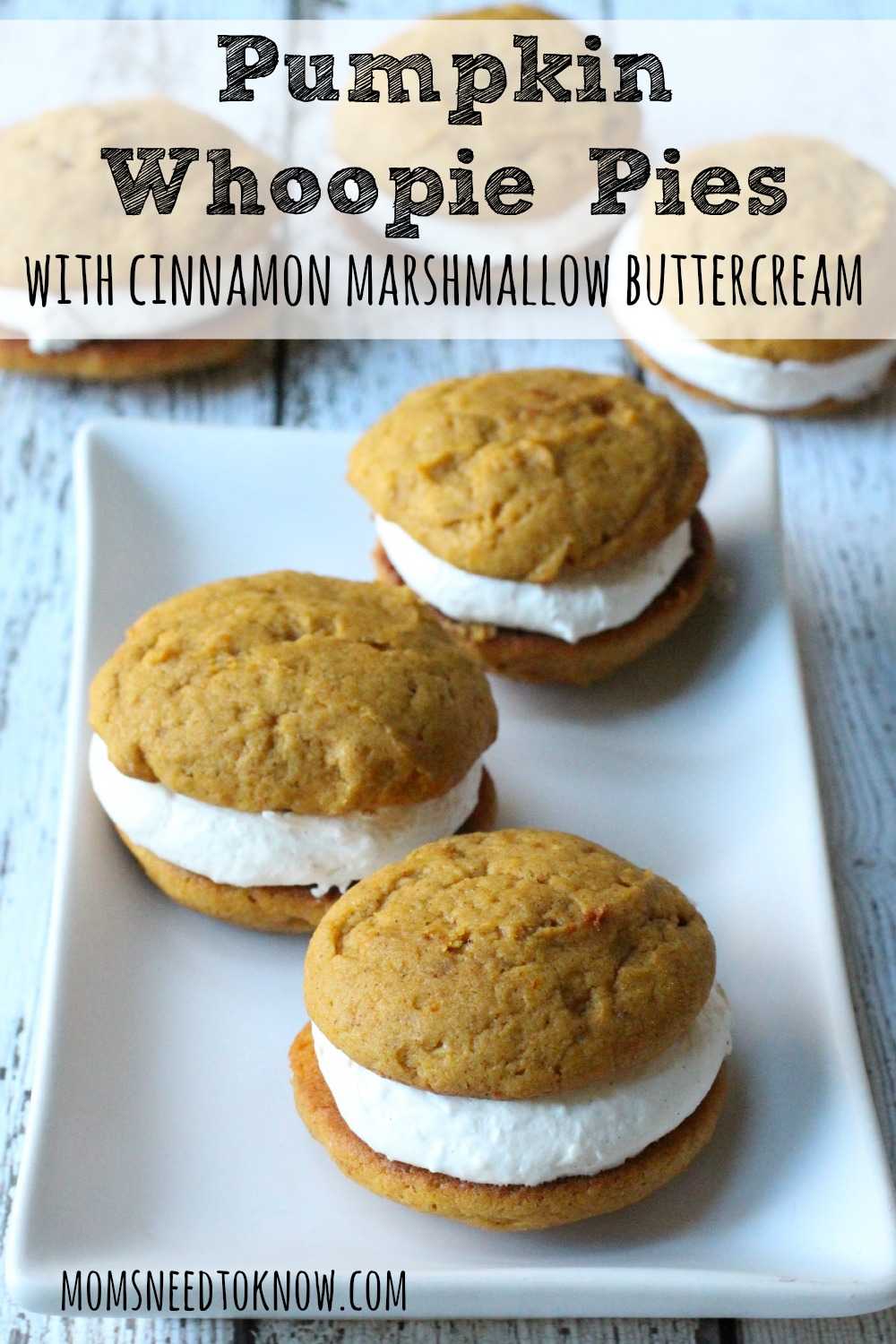 Pumpkin season may be winding down, but in my house, it is ALWAYS pumpkin season and these pumpkin whoopie pies are sure to be a hit with your family!