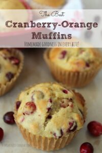 The Best Cranberry Orange Muffins Ever!
