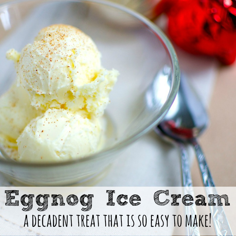 Eggnog Ice Cream Recipe | Moms Need To Know