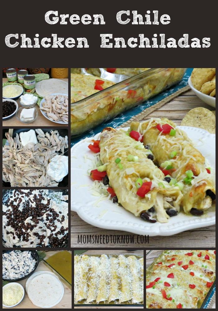 Green Chicken Enchiladas collage