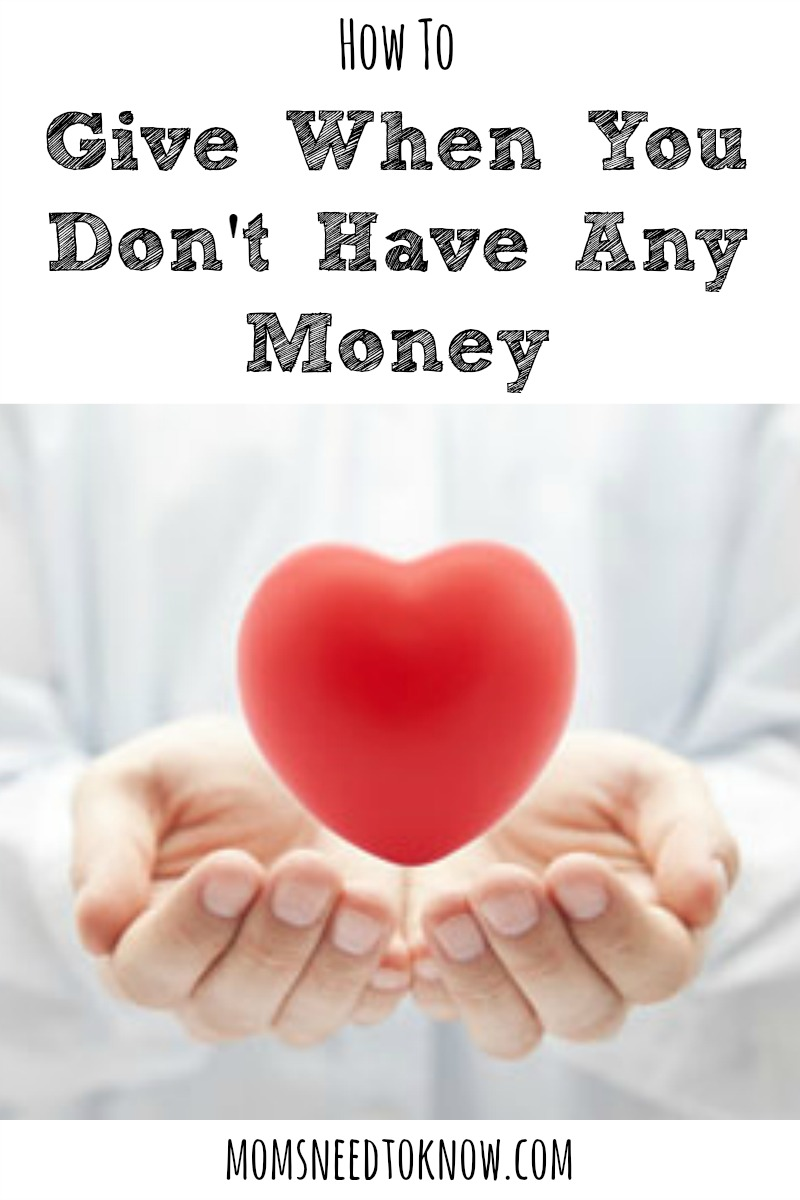How To Give When You Don't Have Any Money