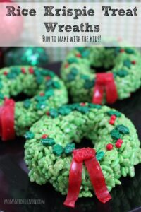 Rice Krispie Treats Idea | Christmas Wreaths