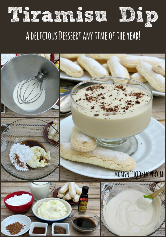 Tiramisu Dip Recipe collage