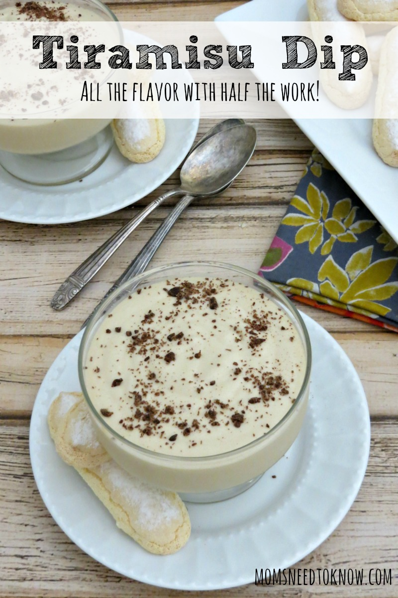 This dip is perfect for cookies or dip and gives you all the flavor of tiramisu with a fraction of the effort. Great for a last-minute dessert!