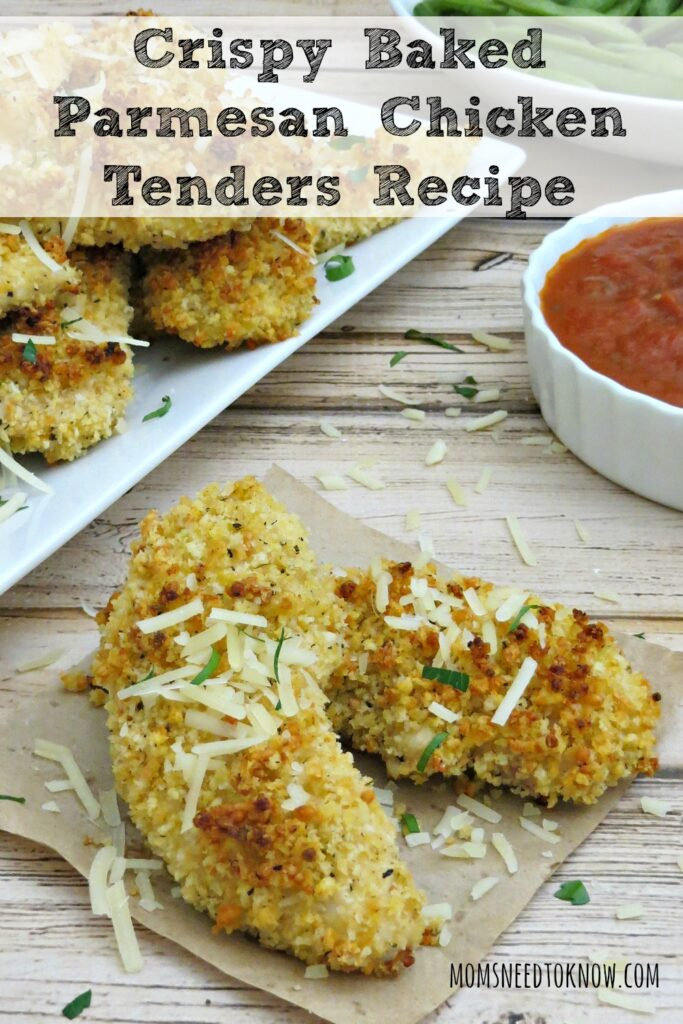 Crispy Baked Parmesan Chicken Tenders Recipe | Moms Need To Know ™
