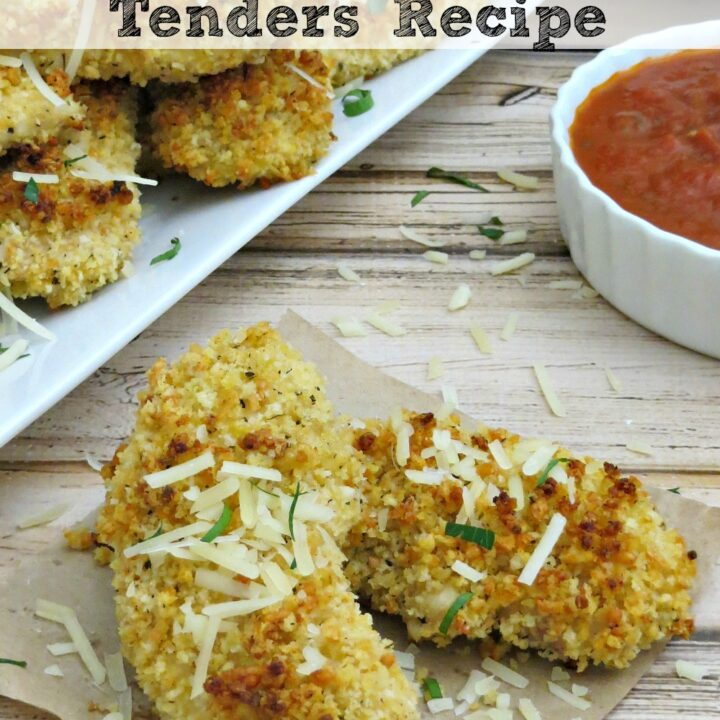 This chicken tenders recipe packs plenty of flavor, thanks to Parmesan and hot sauce, but won't weigh you down like fried chicken strips will!