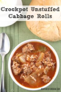 Crockpot Unstuffed Cabbage Rolls Soup